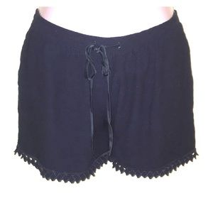 Rebecca Taylor silk lined dark navy shorts